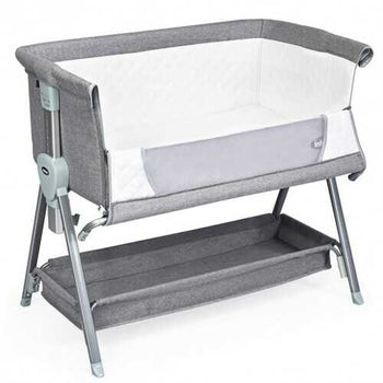 Adjustable Baby Bedside Crib with Large Storage-Gray