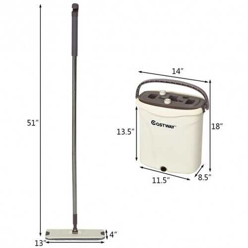 Flat Squeeze Mop and Bucket Set