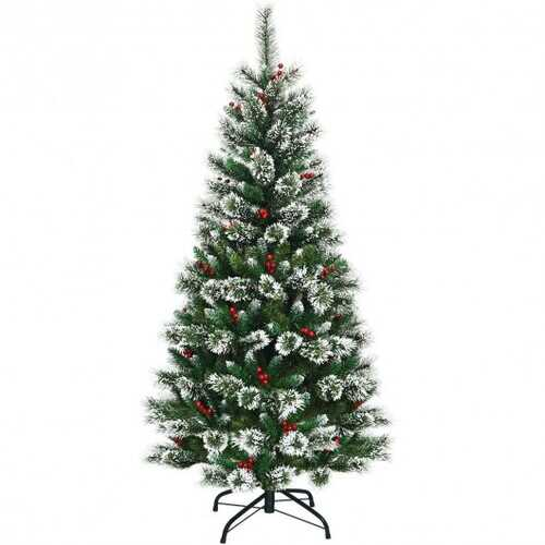 6 ft Snow Flocked Artificial Christmas Hinged Tree