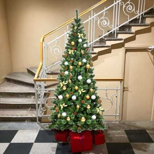 8 ft Premium Hinged Artificial Christmas Tree Pine Needles