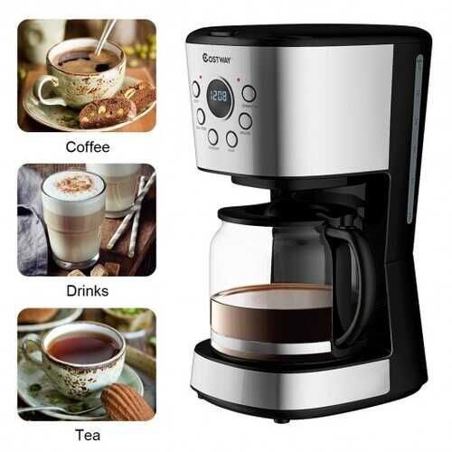 12-cup LCD Display Programmable Coffee Maker Brew Machine