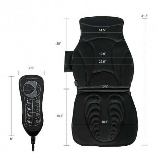 Vibration Massage Car Seat Cushion with 10 Vibration Motors
