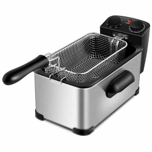 3.2 Quart Electric Stainless Steel Deep Fryer with Timer