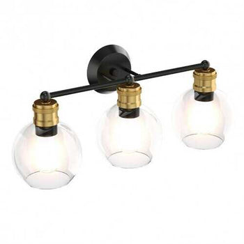 Modern 3-light Bubbled Glass Vanity Light