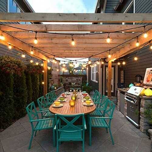 36FT LED Outdoor Waterproof Commercial Globe String Lights Bulbs