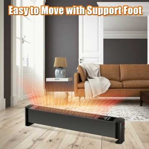 1500W Baseboard Hardwire Electric Heater Fast Heating with Remote Control Timer