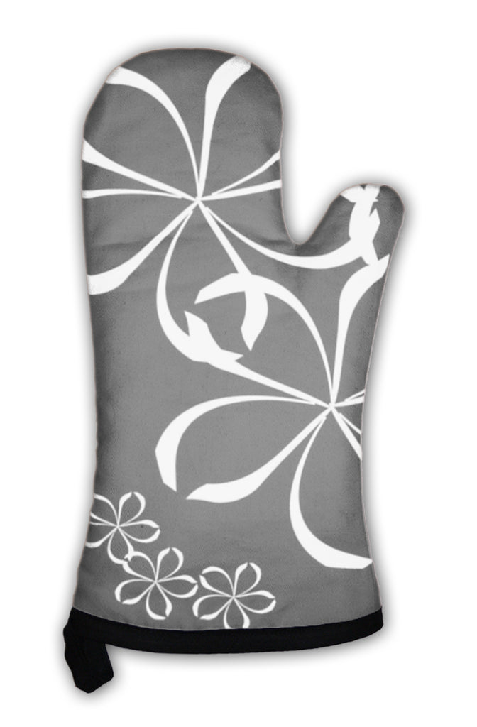 Oven Mitt, Abstract Floral Pattern