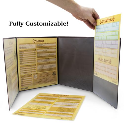 The Master's Tome Customizable DM Screen, Red