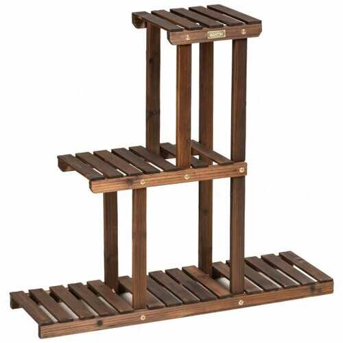 Wood Plant Stand 3-Tier Plant Pot Holder