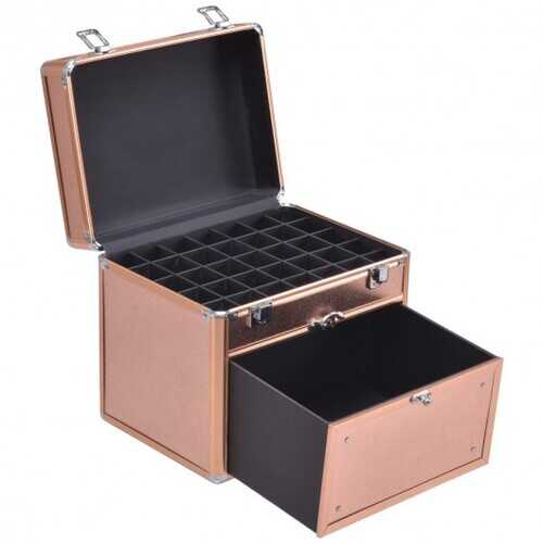 Nail Polish Beauty Makeup Case w/ Slide out Drawer