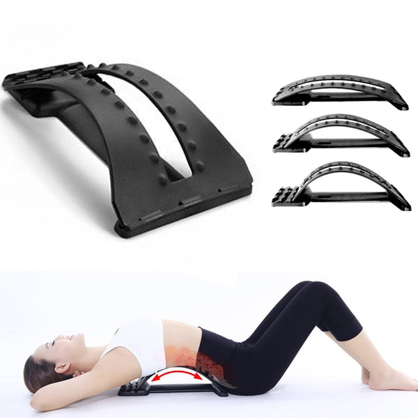 New Adjustable and portable Aptoco Stretcher Lumbar Support Device for Upper and Lower Back Pain Relief Chiropractic