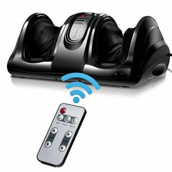 Shiatsu Foot Massager with Remote Control-Black - Color: Black