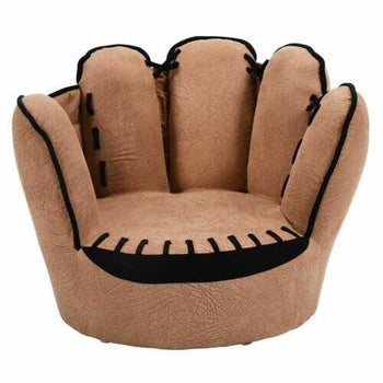 Household Five Fingers Baseball Glove Shaped Kids Leisure Upholstered Sofa