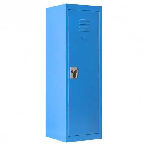 "48"" Kid Safe Storage Children Single Tier Metal Locker-Blue"
