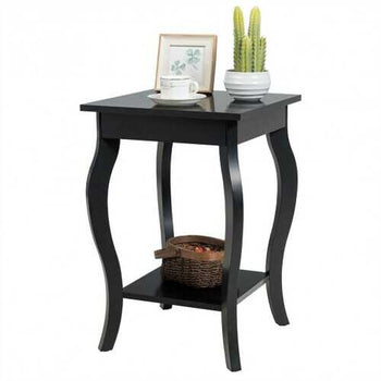 Accent Sofa End Side Table-Brown