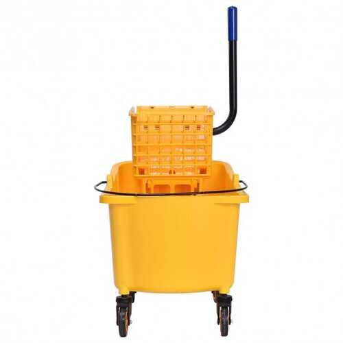 31 Quart Side Mop Bucket Press Wringer