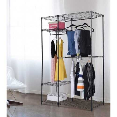 Portable Steel Closet Hanger Storage Rack Organizer