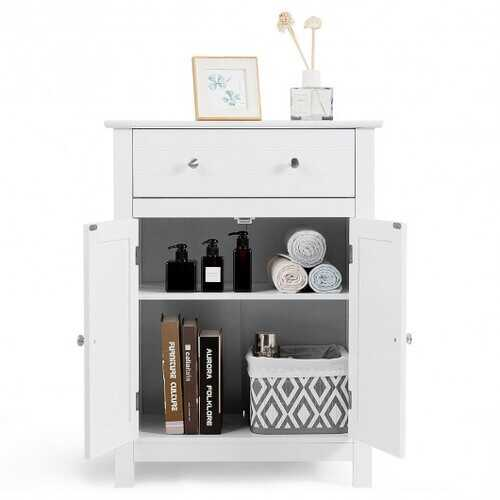 Free Standing Bathroom Storage Cabinet with Large Drawer