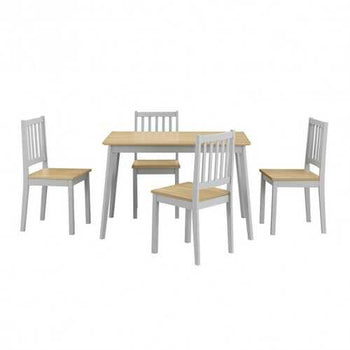 5 Piece Mid Century Modern Dining Table Set