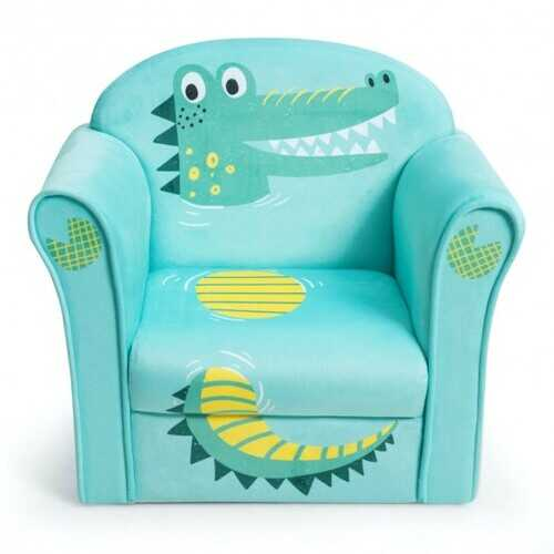 Kids Crocodile Armrest Upholstered Couch