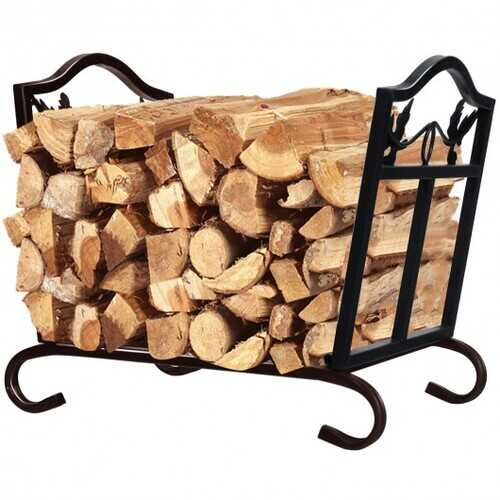 Foldable Firewood Log Rack Steel Wood Storage Holder