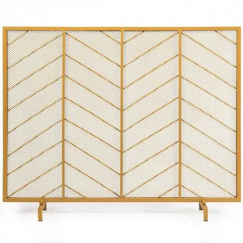 "39""x31"" Single Panel Fireplace Screen Spark Guard Fence"