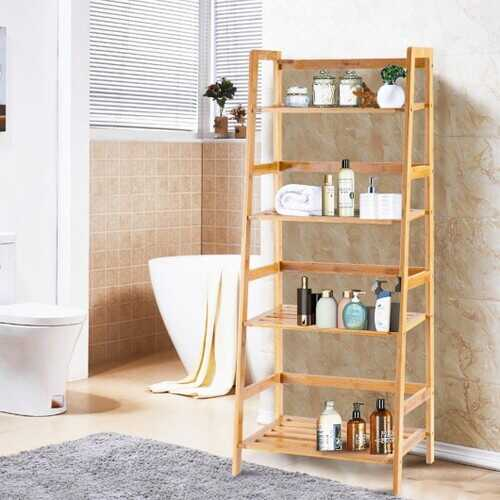 Multifunctional 4 Shelf Bamboo Plant Flower Storage Stand Rack