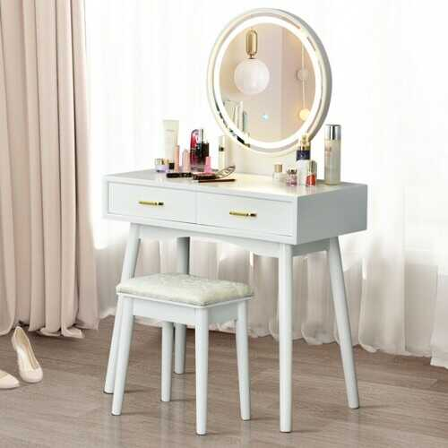 Vanity Dressing Table Set with 3 Lighting Modes