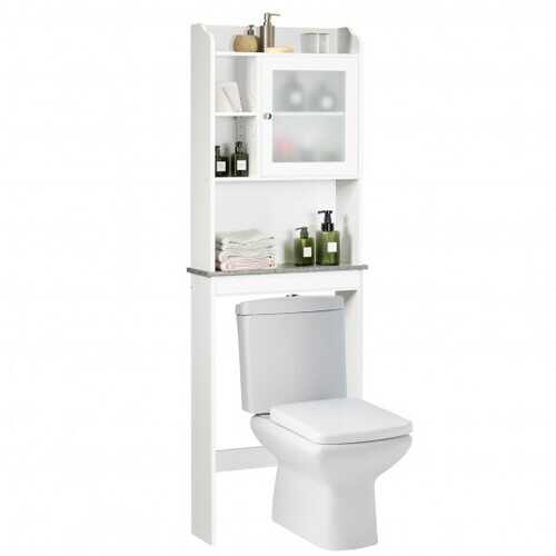 Bathroom Space Saver White Over-the-Toilet Cabinet