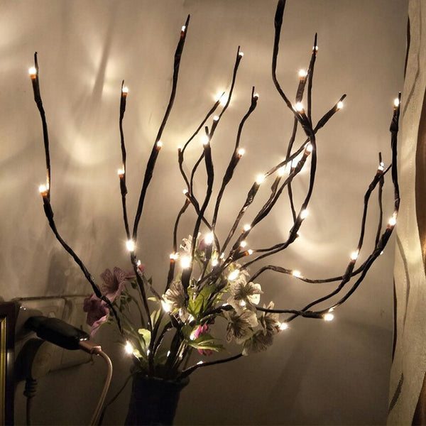 LED Willow Branch Lights Lamp Natural Tall Vase Filler Willow Twig Lighted Branch Christmas Wedding Decorative Lights hot A30819