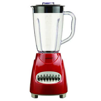 Brentwood 12 Speed Blender Plastic Jar -Red