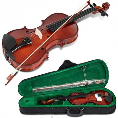 Full Size 4/4 Solid Wood Student Starter Violin