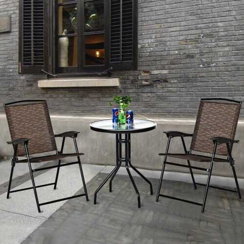 3 pcs Bistro Patio Garden Furniture Set