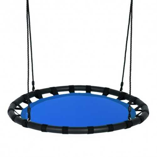 "40"" Flying Saucer Round Swing Kids Play Set-Blue"