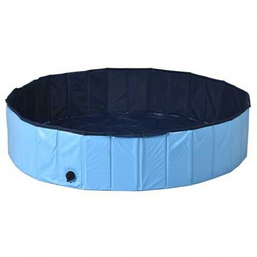 "55"" PVC Outdoor Foldable Pet and Kids Swimming Pool-Blue"