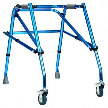 Folding Adjustable Walker Small Aluminum Walker -Blue