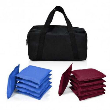 Set of 12 Blue and Red Weather Resistant Cornhole Bags