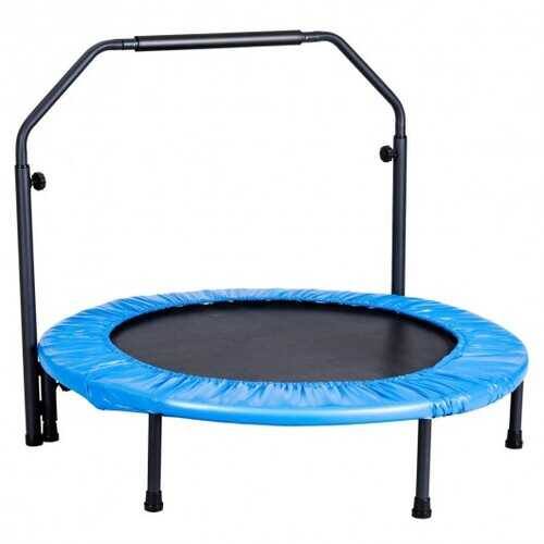 Mini Rebounder Trampoline with Adjustable Hand Rail