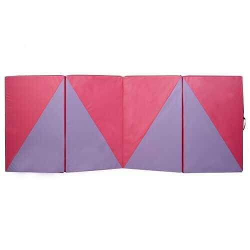 "4' x 10' x 2"" Triangular Splicing Thick Folding Panel Gymnastics Mat"