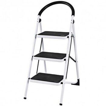 Heavy Duty Industrial Lightweight Folding Stool 3 Step Ladder