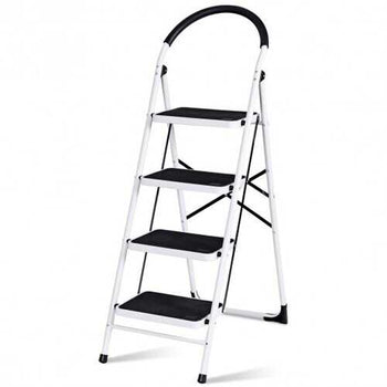Folding Heavy Duty Industrial Lightweight 4 Step Ladder