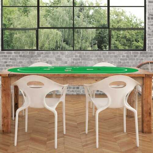 "71"" x 36"" Folding Poker Table Top with Carrying Bag"