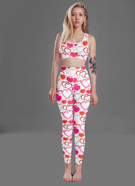Pink Hearts Fitness Set