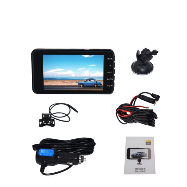 Dash Cam and Backup Camera Night Vision Loop Recording DVR