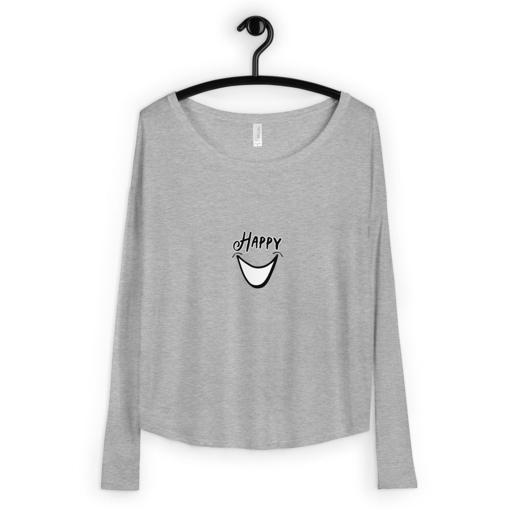 Happy Ladies' Long Sleeve Tee