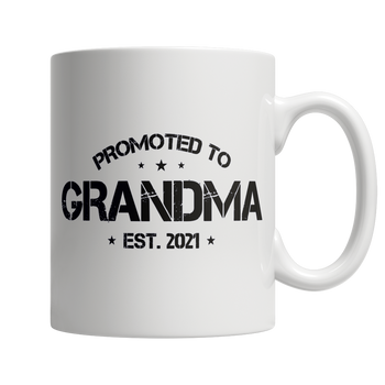 Promoted To Grandma EST 2021 - White Mug
