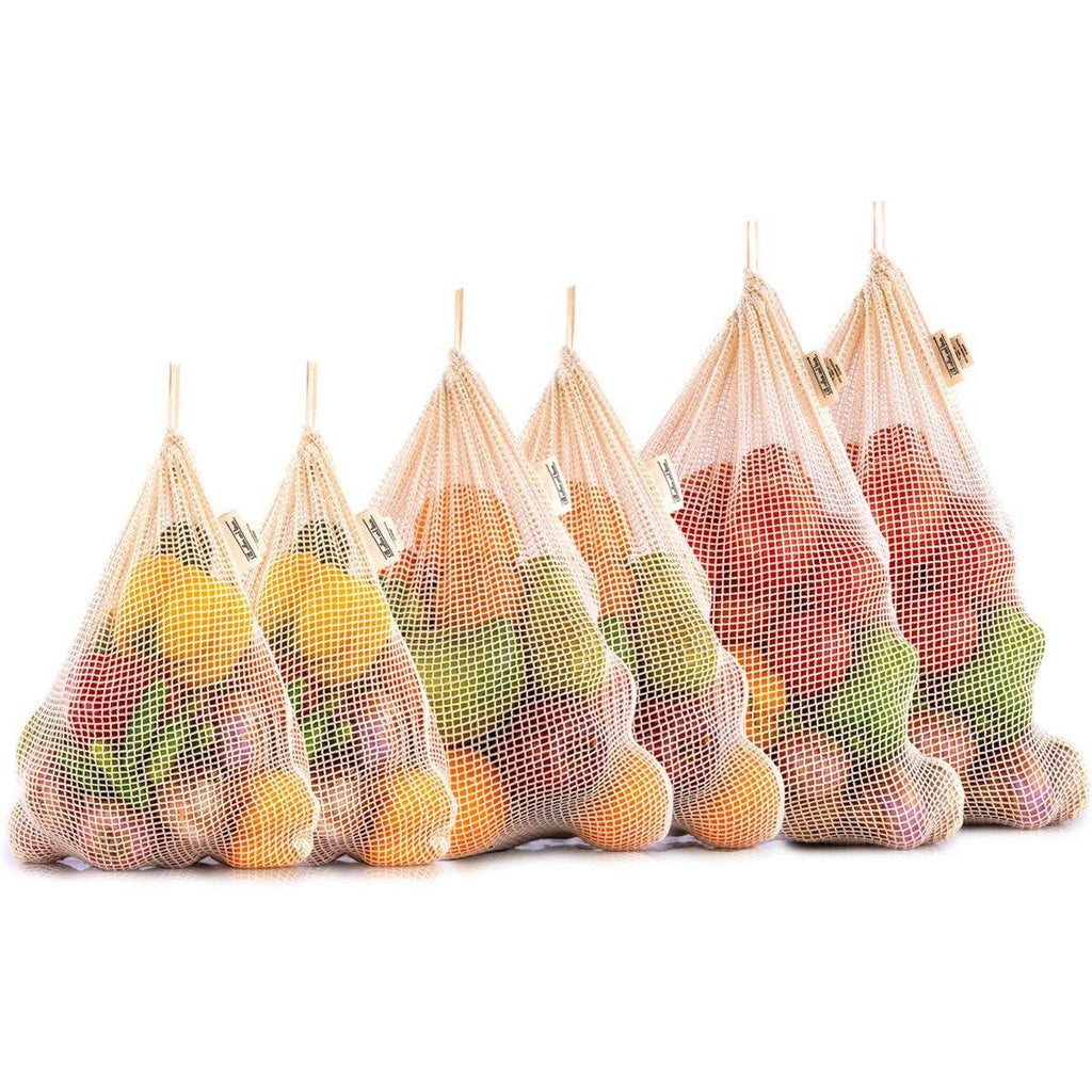 Organic Cotton Reusable Mesh Produce Bags