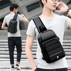 Crossbody Bags for Men USB Charging