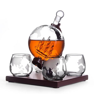 The Classic Globe Whiskey Decanter Sets