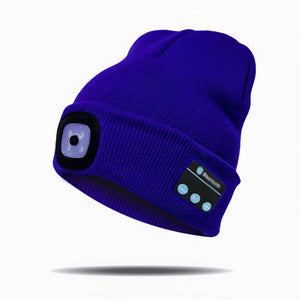 Unisex Beanie With Bluetooth Headphones & LED Lights - The Rambler Beanie
